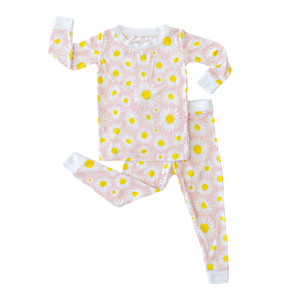 Little Sleepies Daisies - Two-Piece Bamboo Pajama Set
