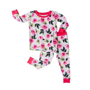 Little Sleepies Roses - Two-Piece Bamboo Pajama Set