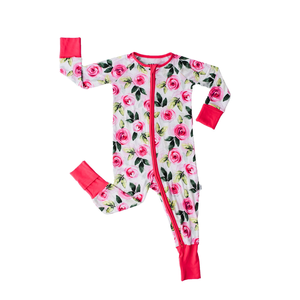 Little Sleepies Roses - Bamboo Zippie Pajama