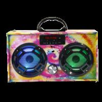 Wireless Express Boom Box w/ LED Speakers Tie Dye
