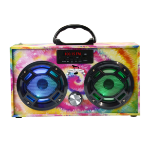 Wireless Express Boom Box w/ LED Speakers Tie Dye