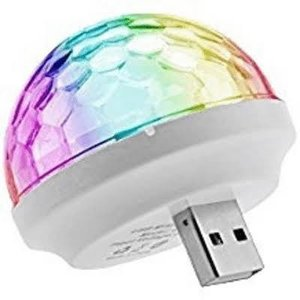 Wireless Express USB Mini Disco Ball Light - Sound Activated!