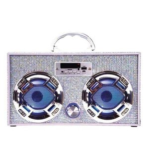 Wireless Express Boom Box w/ LED Speakers Iridescent Bling