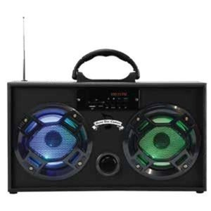 Wireless Express Boom Box w/ LED Speakers Black