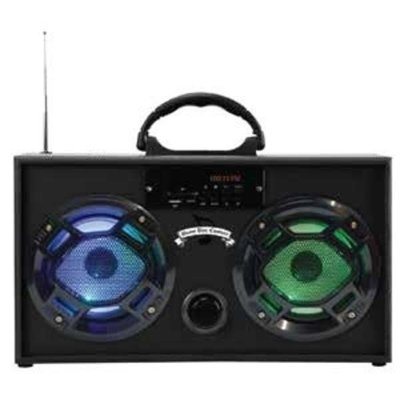 Wireless Express Boom Box w/ LED Speakers Black