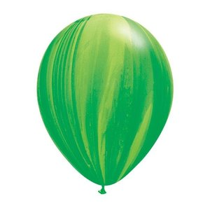 "burton + BURTON 11"" Latex - Qualatex  Balloon - Green Marble Superagate"