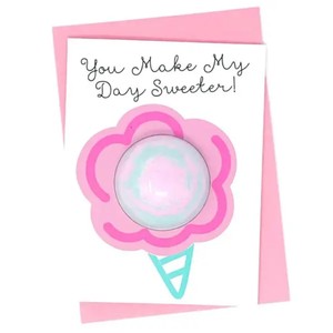 Feeling Smitten You Make My Day Sweeter Bath Bomb Card