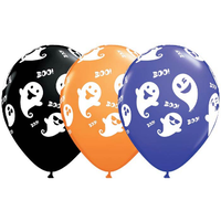"burton + BURTON 11"" Latex -  Balloon - Halloween Ghost Emojis (with helium)"