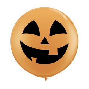 "burton + BURTON 36"" Latex -  Balloon - XL Halloween Jack o Lantern (with helium)"
