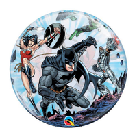 "burton + BURTON 22"" - Bubble Balloon - Justice League (with .96 cf of helium) Qualatex 49843"