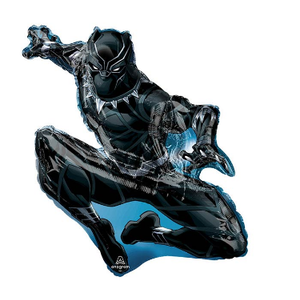 "burton + BURTON 32"" - Foil Balloon - Avengers Black Panther Character Shape (with helium)"
