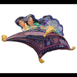 "burton + BURTON 42"" - Foil Balloon - Disney Aladdin and Jasmine on Carpet Shape (with 1.49 cf of helium) Anagram SuperShape XL 3915301"