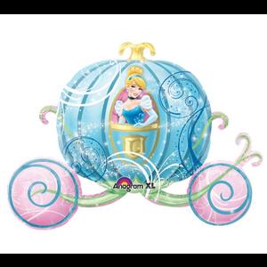 "burton + BURTON 33"" - Foil Balloon - Disney Cinderella in Pumpkin Carriage Shape (with 1.47 cf of helium) Anagram SuperShape XL 26463"