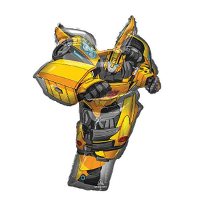 "burton + BURTON 37"" - Foil Balloon - Transformers Bumble Bee Character Shape (with 1.65 cf of helium) Anagram 37442 SuperShape 37442"