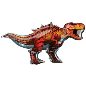"burton + BURTON 45"" - Foil Balloon - Tyrannosaurus Rex T-Rex Jurassic World Dinosaur Shape (with 1.21 cf of helium) Anagram SuperShape 36338"