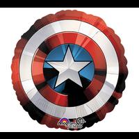 "burton + BURTON 28"" - Foil Balloon - Avengers Captain America Shield (with helium)"