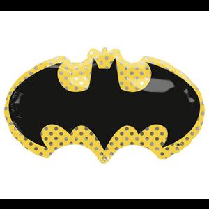 "burton + BURTON 30"" - Foil Balloon - Justice League Batman Logo Shape (with 1.8 cf of helium) Anagram 4070501"
