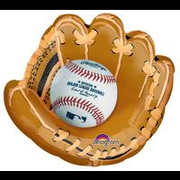 "burton + BURTON 25"" - Foil Balloon - Baseball in Glove - Shape (with 2.16 cf of helium) Anagram SuperShape XL 31647"