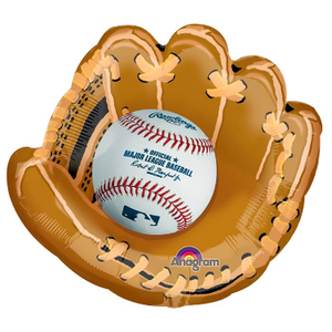 "burton + BURTON 25"" - Foil Balloon - Baseball in Glove - Shape (with 2.16 cf of helium) Anagram SuperShape XL 31647"