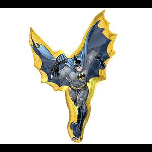 "burton + BURTON 39"" - Foil Balloon - Justice League Batman Character Shape (with 1.3 cf of helium) Anagram  SuperShape XL 17753"