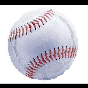 "burton + BURTON 28"" - Foil Balloon - Jumbo Baseball Shape (with 1.89 cf of helium)"