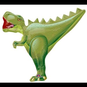 "burton + BURTON 14"" - Foil Balloon - Tyrannosaurus Rex T-Rex Dinosaur Shape (air only - pre-inflated)"
