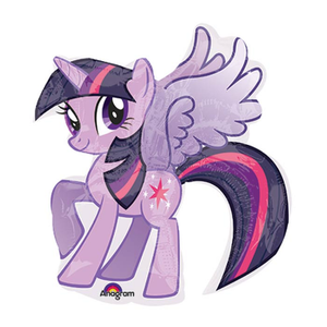 "burton + BURTON 14"" - Foil Balloon - My Little Pony - Twilight Sparkle Shape (air only - pre-inflated)"