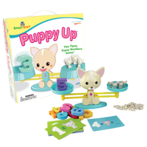 PlayMonster Puppy Up - The Tipsy, Topsy Numbers Game - Ages 3+