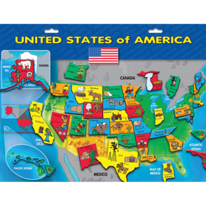PlayMonster Create-A-Scene - Magnetic USA Puzzle