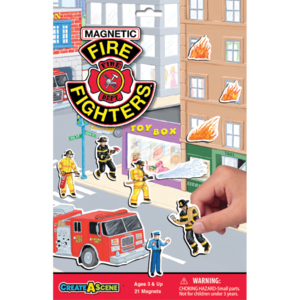 PlayMonster Create-A-Scene - Firefighters - Magnetic Playset