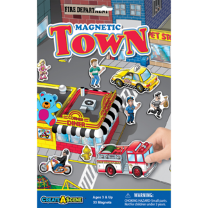 PlayMonster Create-A-Scene - Town - Magnetic Playset