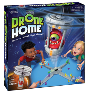 PlayMonster Drone Home Game - Race to Launch Your Aliens - Ages 8+