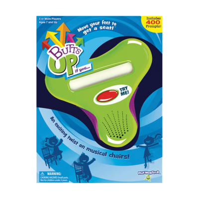 PlayMonster Butts Up - An Exciting Twist on Musical Chairs Game - Ages 7+
