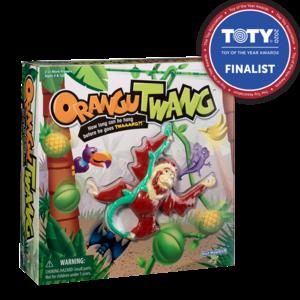 PlayMonster OranguTWANG Game - How long can he hang before he goes TWAAANG?! - Ages 4+