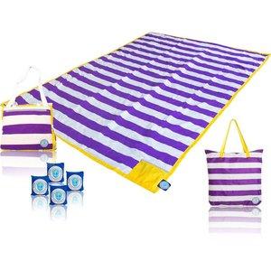 Nikiani Oversized Blanket - Purple Gold