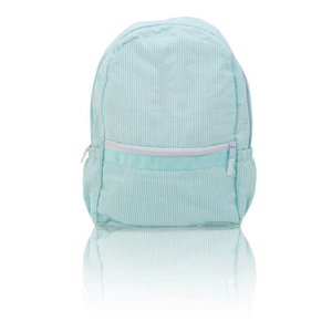 Nikiani Seersucker Seaside Backpack - Solid Aqua