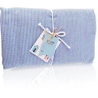 Nikiani Seersucker Towel Ket - Solid Blue