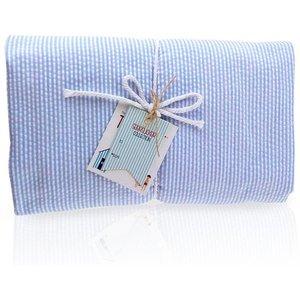 Nikiani Seersucker Towel Ket - Solid Baby Blue