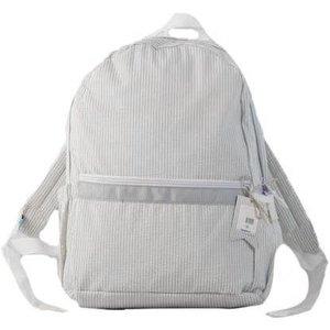 Nikiani Seersucker Seaside Backpack - Solid Gray