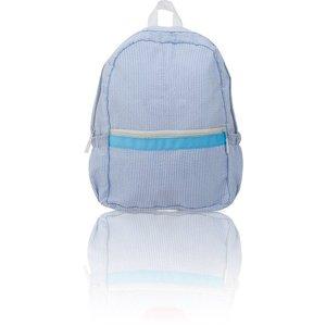 Nikiani Seersucker Seaside Backpack - Solid Baby Blue