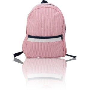 Nikiani Seersucker Seaside Backpack - Solid Red