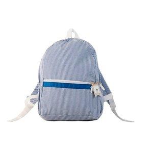 Nikiani Seersucker Seaside Backpack - Solid Blue