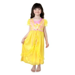 Little Adventures Belle (Yellow Beauty and the Beast) Nightgown with Yellow Robe