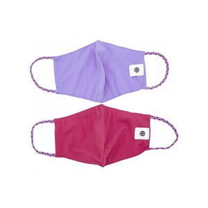 Pomchies 2 pack of Reusable Face masks - Solid Tulip & Solid Fuchsia (Ages 6-Adult) FINAL SALE
