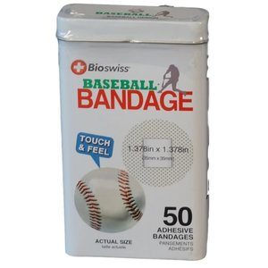 Watchitude Baseball-Shaped Bandaids - 50 Adhesive Bandages
