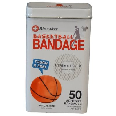 Watchitude Basketball-Shaped Bandaids - 50 Adhesive Bandages