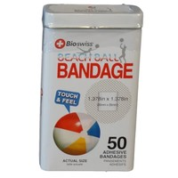 Watchitude Beach Ball-Shaped Bandaids - 50 Adhesive Bandages