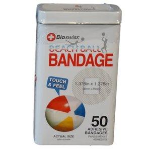 Watchitude Beach Ball-Shaped Bandaids - 50 Adhesive Bandages