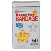 Watchitude Happy Star-Shaped Bandaids - 50 Adhesive Bandages
