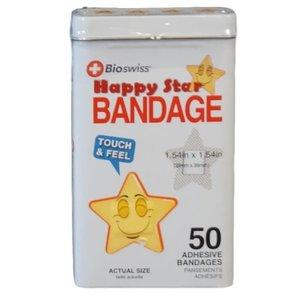 Watchitude Happy Star-Shaped Bandaids - 50 Adhesive Bandages